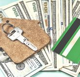 L'acquisto di alloggio sul credito Immagine Stock Libera da Diritti