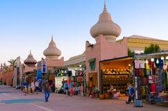 L'acquisto rema alla notte 1001 del complesso di spettacolo Alf Leila Wa Leila, Sharm el-Sheikh, Egitto fotografia stock libera da diritti