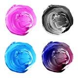 L'acrilico circonda il rosa della raccolta, blu, colori grigi illustrazione di stock