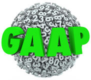L'acronimo di GAAP segna i principali con lettere correnti di contabilità Immagine Stock Libera da Diritti