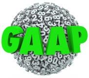 L'acronyme de GAAP marque avec des lettres les principaux courants de comptabilité Image libre de droits
