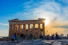 L'acropoli di Atene Fotografie Stock