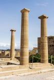 L'acropoli di Lindos Immagine Stock Libera da Diritti