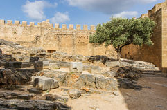L'acropoli di Lindos fotografia stock