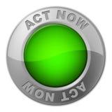 L'acte boutonnent maintenant des expositions à l'heure actuelle et l'action illustration de vecteur