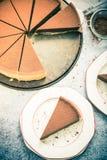 L'acte délictuel de chocolat de portion, vintage tonned l'effet Image stock