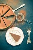 L'acte délictuel de chocolat de portion, vintage tonned l'effet Photo stock