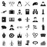 L'acte d'agression des icônes a placé, style simple illustration de vecteur