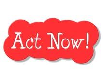 L'acte représente maintenant à l'heure actuelle et action illustration de vecteur