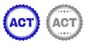 L'ACTE texturisé a rayé des timbres avec le ruban illustration de vecteur