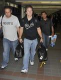 L'acteur Mark Wahlberg est vu chez LAX. photo stock