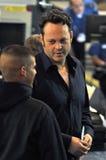 L'acteur Vince Vaughn est vu à l'aéroport de LAX Photographie stock