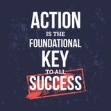 L'action est la clé fondamentale au succès illustration libre de droits