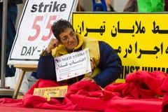 L'action ( ; faim strike) ; Dissidents iraniens photo libre de droits