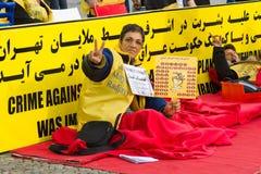 L'action ( ; faim strike) ; Dissidents iraniens photos libres de droits