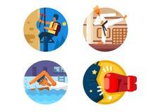 L'Active folâtre des icônes Image stock