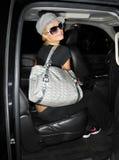 L'actrice Paris Hilton est vue chez LAX photographie stock libre de droits