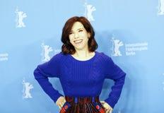 L'actrice Sally Hawkins s'occupe de la séance photo Images libres de droits