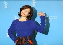 L'actrice Sally Hawkins s'occupe de la séance photo Photo libre de droits