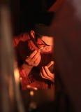 L'actrice se prépare à l'opéra chinois L'opéra chinois est un drame antique de manière musicale en octobre Photo stock