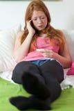 L'adolescent disent au sujet de la grossesse Photo libre de droits