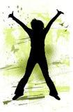 L'adolescente che salta con la gioia Immagine Stock Libera da Diritti