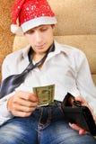 L'adolescente controlla il portafoglio Fotografia Stock Libera da Diritti
