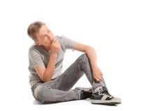 L'adolescente sta pensando e cercando Fotografia Stock
