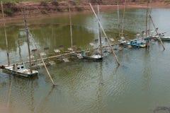 L'aeratore, l'elica ha colpito l'acqua dell'ossigeno per l'agricoltura in Tailandia Fotografie Stock Libere da Diritti
