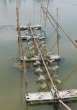 L'aeratore, l'elica ha colpito l'acqua dell'ossigeno per l'agricoltura in Tailandia Immagine Stock