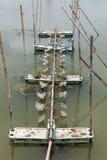 L'aeratore, l'elica ha colpito l'acqua dell'ossigeno per l'agricoltura in Tailandia Fotografia Stock Libera da Diritti