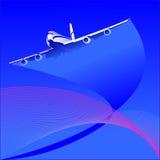 L'aereo Fotografie Stock