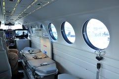 L'aereo ambulanza Fotografie Stock Libere da Diritti
