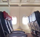 L'aereo si siede la fila Immagine Stock