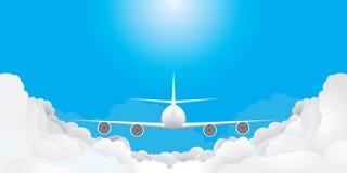 L'aereo sta volando Fotografie Stock