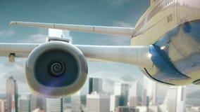 L'aeroplano decolla Dallas Texas illustrazione vettoriale