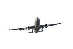 L'aeroplano di affari del passeggero decolla e volo sul backgro bianco Fotografie Stock