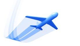 L'aeroplano simbolico toglie Fotografia Stock