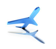 L'aeroplano simbolico toglie Fotografia Stock Libera da Diritti