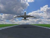 L'aeroplano toglie Immagini Stock