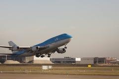L'aeroplano toglie Fotografia Stock
