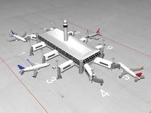 l'aeroporto 3D rende Fotografie Stock Libere da Diritti