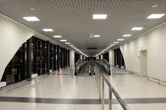L'aeroporto in bianco e nero Immagini Stock Libere da Diritti