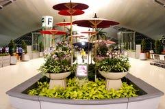 L'aeroporto di Suvarnabhumi decora la zona Fotografie Stock