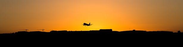 L'aeroporto toglie Fotografia Stock