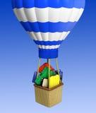 L'aerostato di aria calda photgrphed al Bealton, esposizione di aria del circo di volo di VA royalty illustrazione gratis