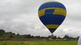 L'aerostato di aria calda photgrphed al Bealton, esposizione di aria del circo di volo di VA stock footage