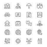 L'affare assottiglia le icone Fotografie Stock Libere da Diritti