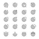 L'affare assottiglia le icone Immagine Stock