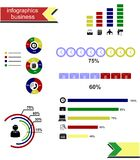 L'affare di infographics Fotografia Stock Libera da Diritti